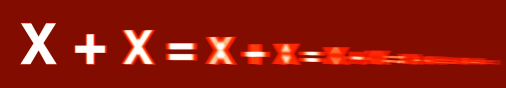 red receding x